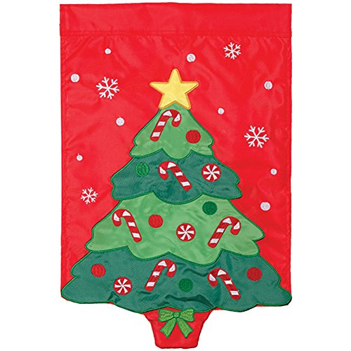 Carson Applique LED Garden Flag - Bright Lights Tree