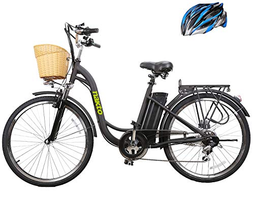 """26"""" 250W Cargo Electric Bicycle 6-Gear Speed Sporting Ebike 36V10A Lithium Battery -Class AAA(Black) from NAKTO"""