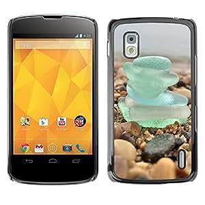 Super Stella Slim PC Hard Case Cover Skin Armor Shell Protection // M00421696 Beach Glass Coast Beach Glass Sea // LG Nexus 4 E960