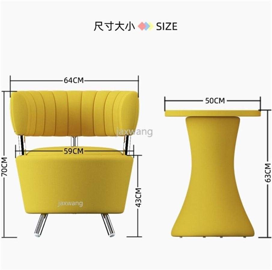 LZZR Simple Canapé Chaise Chaise Longue Salon Chaise Table Basse Mode Côté Table et Chaise (Color : F) G