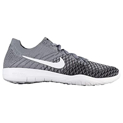 a1d46df3d369 Image Unavailable. Image not available for. Color  NIKE Free TR Flyknit 2  SZ 8.5 Womens Cross Training Cool Grey White-Black