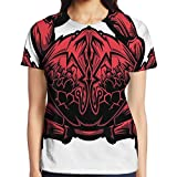 zodiac kids boots - WuLion Astrology Theme Illustration of A Crab Representing Cancer Zodiac Sign Women's 3D Print T Shirt L White