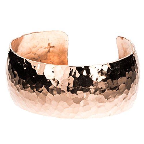 TSKIES Handmade Native American Copper Bracelet Hammered design 6.5