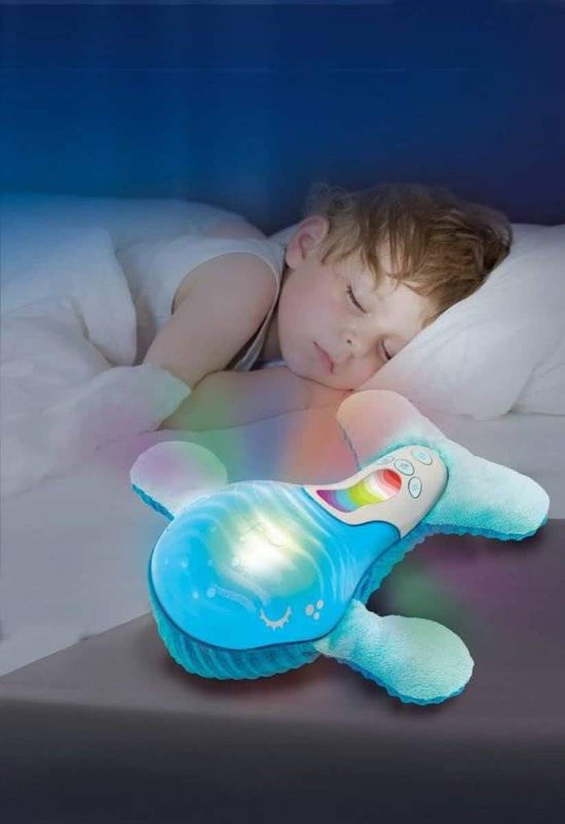 Infantino Whale Sail Away Baby Mobile Night Light Lullaby Player Nursery Toy