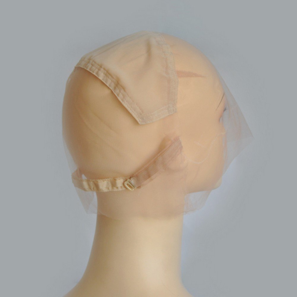 VRwig Swiss Lace Full Lace Wig Cap For Make Wig With Ajustable Strap Color To Choose (Transparent Lace Color)