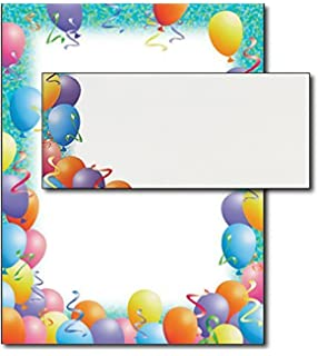 party stationery set 40 sets of matching paper envelopes