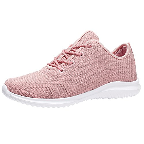 YILAN Women's Fashion Sneakers Casual Sport Shoes PNK-8.5