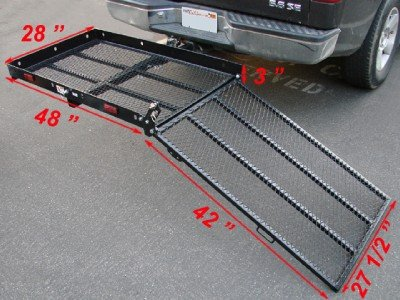 USEFUL Folding Strong Electric Wheelchair Hitch Carrier Mobility Scooter Loading Ramp