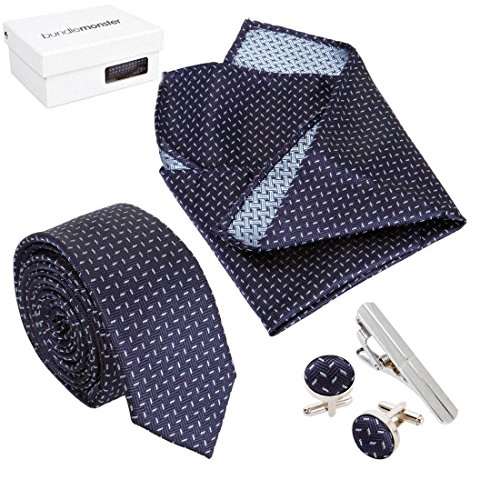 Navy Blue Square Cufflinks - 4