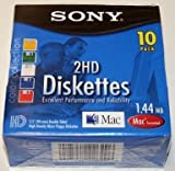 Sony-2HD Micro Floppy Diskettes Mac formatted
