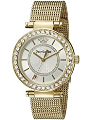 Juicy Couture Womens 1901373 Cali Gold-Tone Stainless Steel Watch