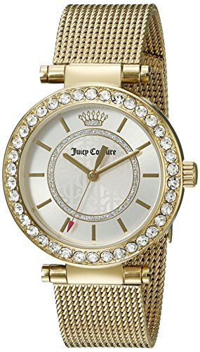 Juicy Couture Women's 1901373 Cali Gold-Tone Stainless Steel Watch (Movado Plated Gold Bracelet)
