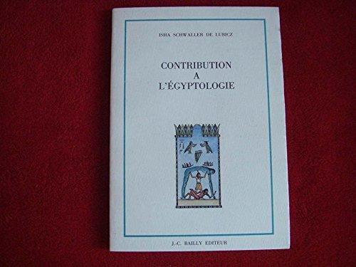 Contribution à l'égyptologie