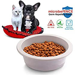 Fluffy Paws Pet Food Water Feeding Bowl with microbeFENCE Technology, Super Durable & Large Capacity for Small Medium & Large Dogs Cats, FDA Approved BPA Free Food Safety Non-Toxic & Dishwasher Safe