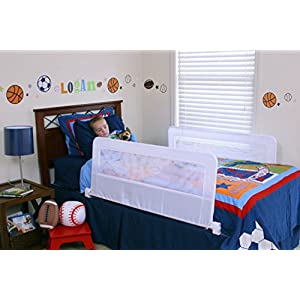Regalo Swing Down Double Sided Bed Rail Guard, with Reinforced Anchor Safety System 5