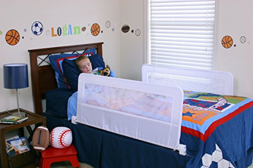 Regalo Swing Down Double Sided Bed Rail Guard, with Reinforced Anchor Safety System from Regalo