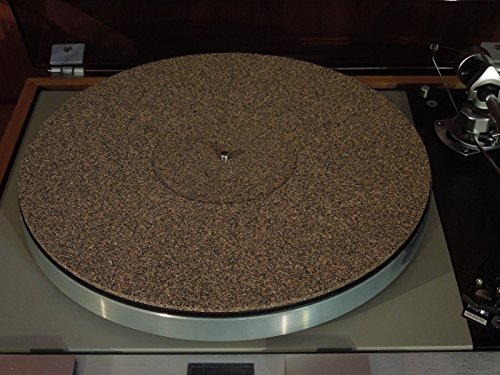 - Cork / Rubber 3mm Turntable Record Mat with record Label recess in the center