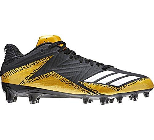 Maglia Adidas Freak X Carbonio Low Tacchetti Mens Football Core Nero-bianco-oro Massiccio