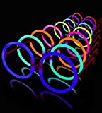 50 Round Lumistick Glow Eyeglasses - 8 Color Assorted Mix