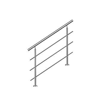 SAILUN 150cm pasamanos barandillas acero inoxidable con 3 postes parapeto, para escaleras,barandilla,balcón: Amazon.es: Bricolaje y herramientas