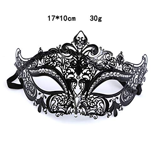 Masquerade Mask for Women Shiny Metal Rhinestone Venetian Party Prom Ball Mask (#4) -