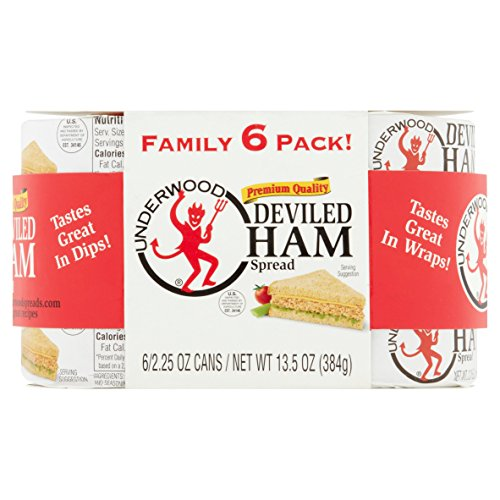 Underwood Deviled Ham Spread 6 Cans of 2.25 Ounce each
