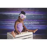Shades of Purple Wood Photography Backdrop - Rubber-Backed Floor Mat - 4ft x 5ft - Backdrop Express