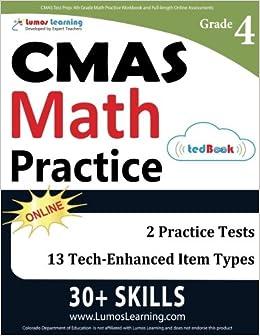Cmas Test Prep 4th Grade Math Practice Workbook And Full Length