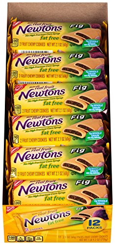 Newtons Fat Free Fig Fruit Chewy Cookies, 12 Count Box (Pack of 4)
