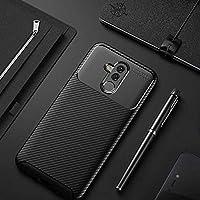 Zore Negro Karbon Fiber Desenli Dayanıklı Kaliteli Silikon Kılıf Huawei Mate 20 Lite Siyah
