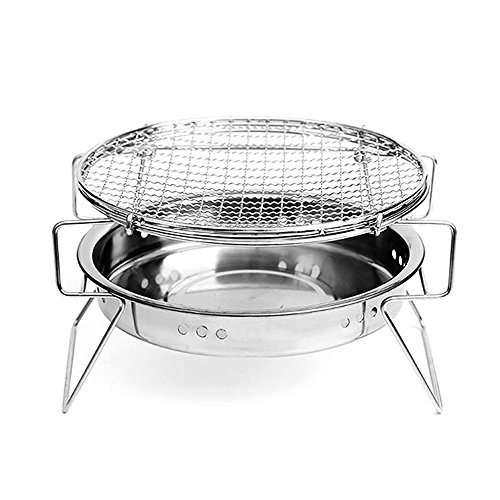 BonNoces Portable Charcoal Grill BBQ Griller on Clearance Thickened Stainless Steel Folding Grill - Tabletop Barbecue Grill Stainless Steel Portable Tabletop