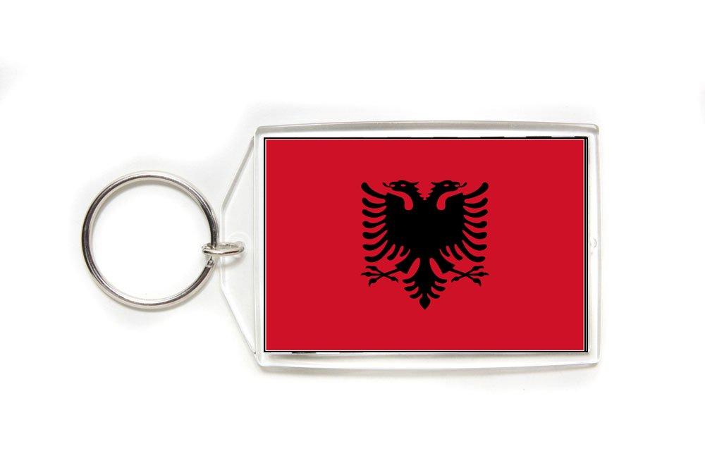 Albania Albanian Flag Double Sided Acrylic Key Ring Large
