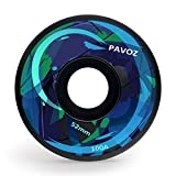 Pavoz Skateboard Wheels Hard 52mm 100A Fantasy Black