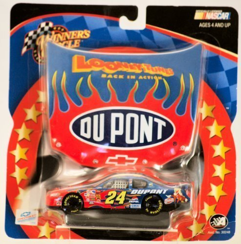 Looney Tunes Edition Limited (2003 - Action / NASCAR - Winner's Circle - Jeff Gordon #24 - Du Pont Chevy Monte Carlo - Looney Tune Back in Action Hood Series - 1:43 Scale Diecast Car - New - Limited Edition - Collectible)
