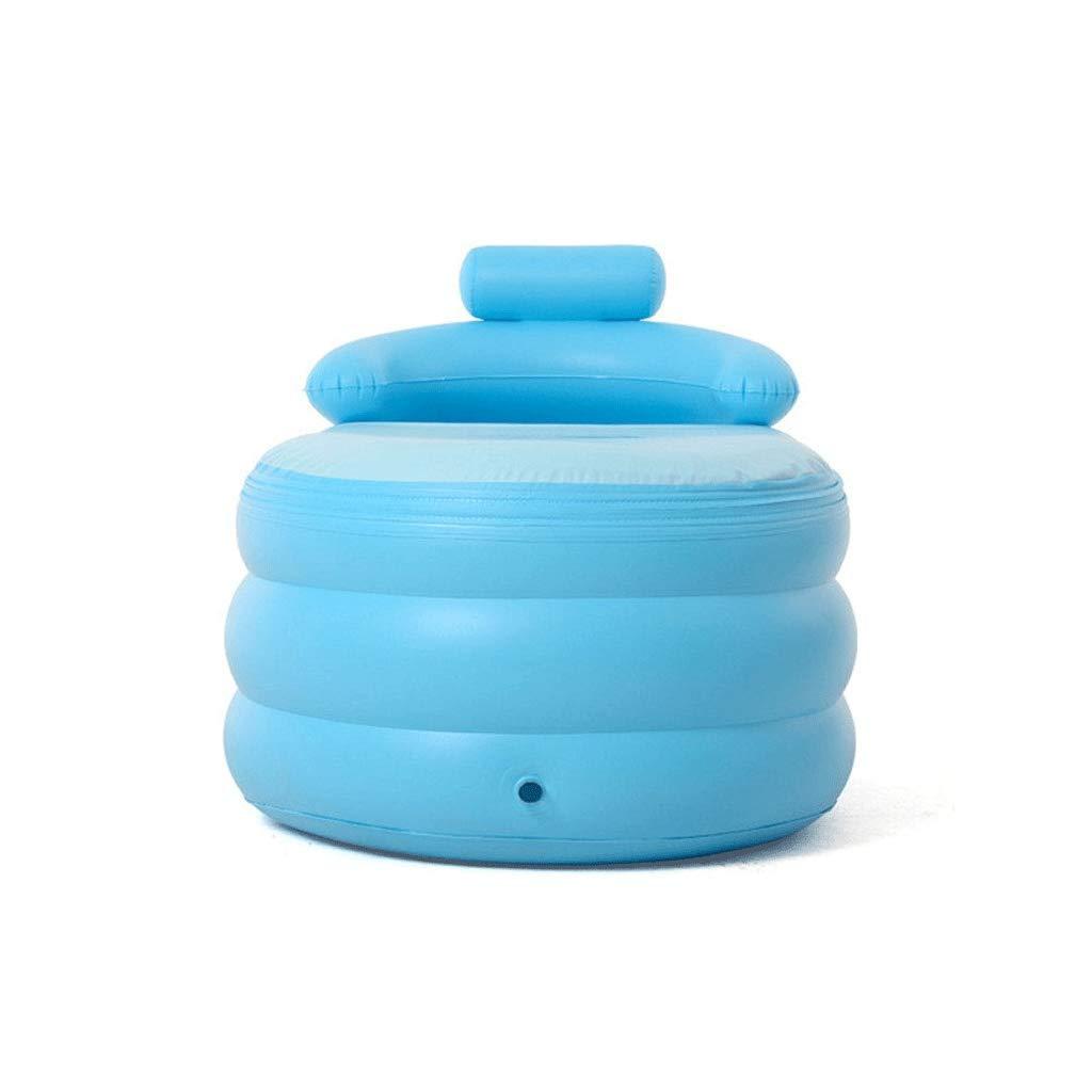 Folding Bathtub Inflatable Bathtub Adult Blue bathroomBathtub Baby Pool Foldable Tub 1428464cm Portable by GX Bathtub (Image #3)