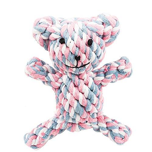 Oneisall Hundespielzeug Haustier Baumwolle beißen Seil Spielzeug Dental Teaser Zahnreinigung für kleine Hundewelpen Biting