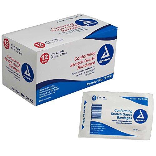 Dynarex Stretch Gauze Bandage Roll Ster 2