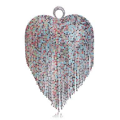 personnalité femmes Rainbow des Tassel de La sac soirée forme coeur de en dxFP5wqP