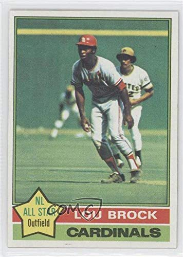 Card Baseball Lou Brock (Lou Brock (Baseball Card) 1976 Topps - [Base] #10)