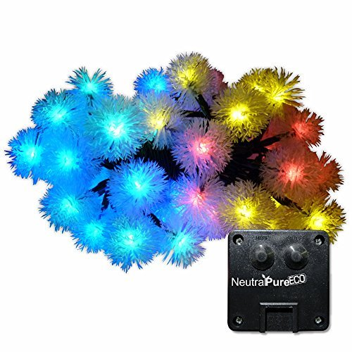 Neutralpure eco neutralpure eco snowball solar powered for Eco christmas lights