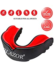 BLAZOR Mouth Guards/Gum Shield All Sports Mouthguard for boxing, MMA, rugby, muay thai, hockey, judo, karate martial arts and all contact sports and Other Contact Sports