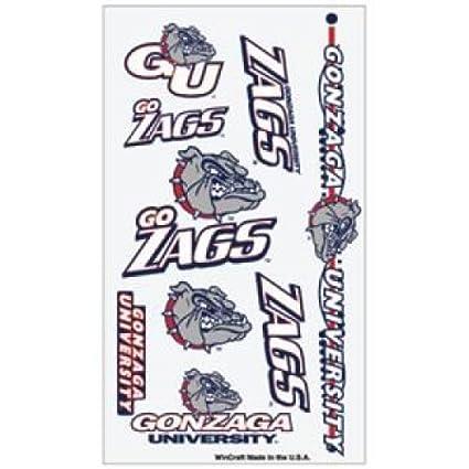 Amazon.com: WinCraft Gonzaga Bulldogs Temporary Tattoos: Sports ...
