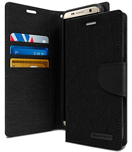 Galaxy S8+ [PLUS] Case, [Drop Protection] GOOSPERY Canvas [Denim Material] Wallet Case [ID Card / Cash Holder] Flip Stand Cover [Shockproof] TPU Casing for Samsung Galaxy S8 PLUS