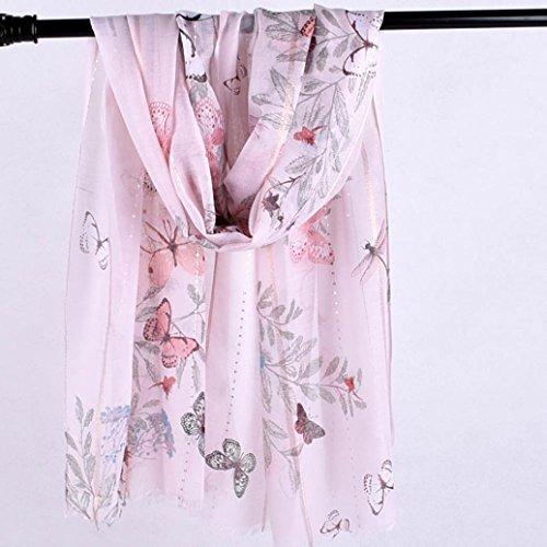 Femmes Ont Châle De Imprimé Doux Wrap Plage Écharpe Le Foulards D'écharpes Rose Multifonctions Élégant Mode Adeshop Echarpe qHtIw14x