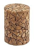 Deco 79 37805 Teak Wood Round Stool, 12'' x 18''
