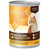 Holistic Select Natural Wet Grain Free Canned Cat Food, Turkey Pâté Recipe, 13-Ounce Can (Pack of 12)