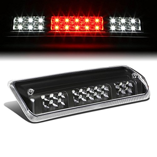 For Ford F150 11th Gen/Lincoln Mark LT High Mount Dual Row LED 3rd Brake/Cargo Light (Black Housing Clear Lens)