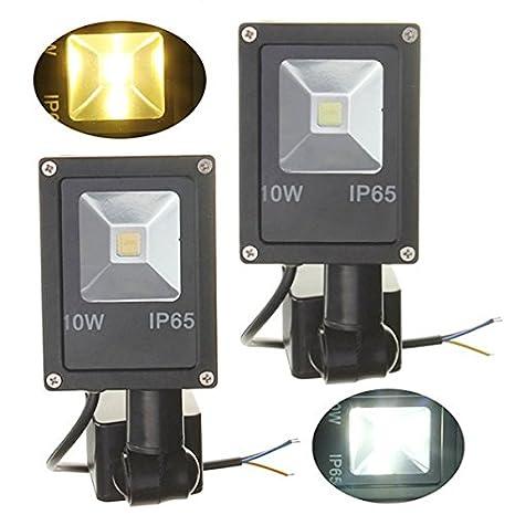 Global 12v sensor de movimiento pir 10w LED ip65 la luz de inundación cálida luz blanca