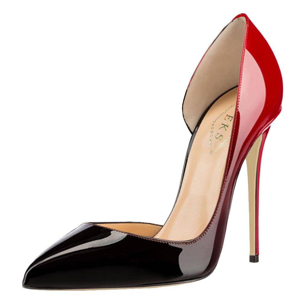 EKS - Zapatos de Tacón Mujer 39 EU rojo y negro
