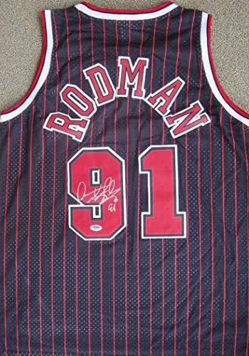 Autographed Dennis Rodman Jersey - PSA/DNA Certified - Autographed NBA Jerseys